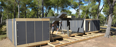 pop-up passive house four day construction