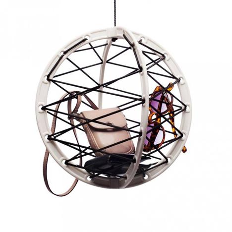 spherical hanging stuff holder