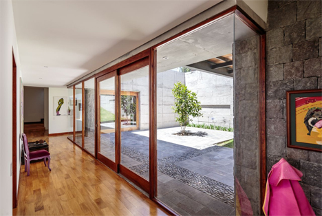 stacked house glass doors