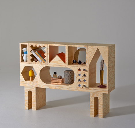 Building Blocks for Adults: Creative Odd-Shaped Shelving