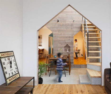 The Shape Of Home: Creative Gabled Wall Cutouts