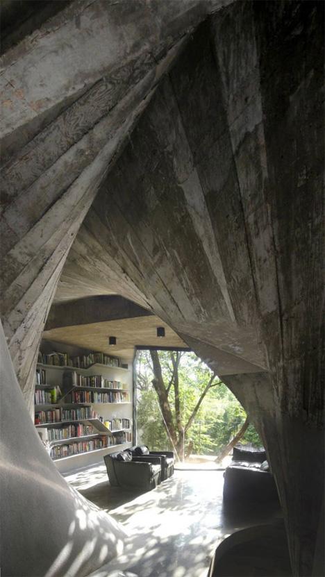 Modern Concrete Tea House 2