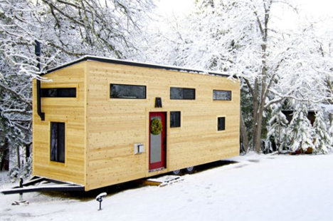 Tiny Modern House modern, mortgage-free tiny house built for just $33k