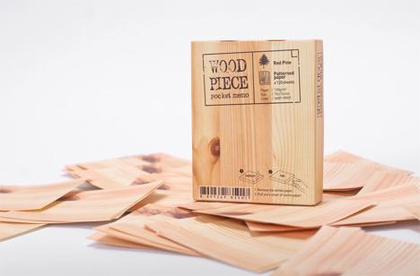 appree wood block memo pad