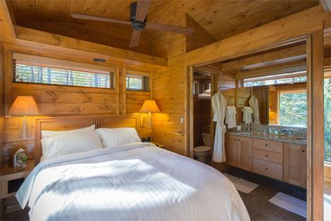 bedroom escape cabin canoe bay