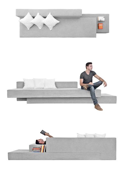 cantilevered sofa
