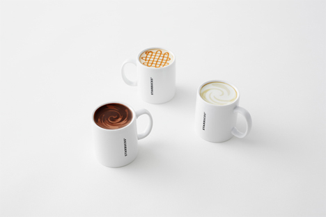 cleverly painted starbucks mugs