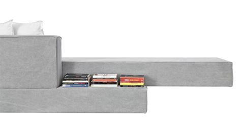 concrete cantilevered sofa