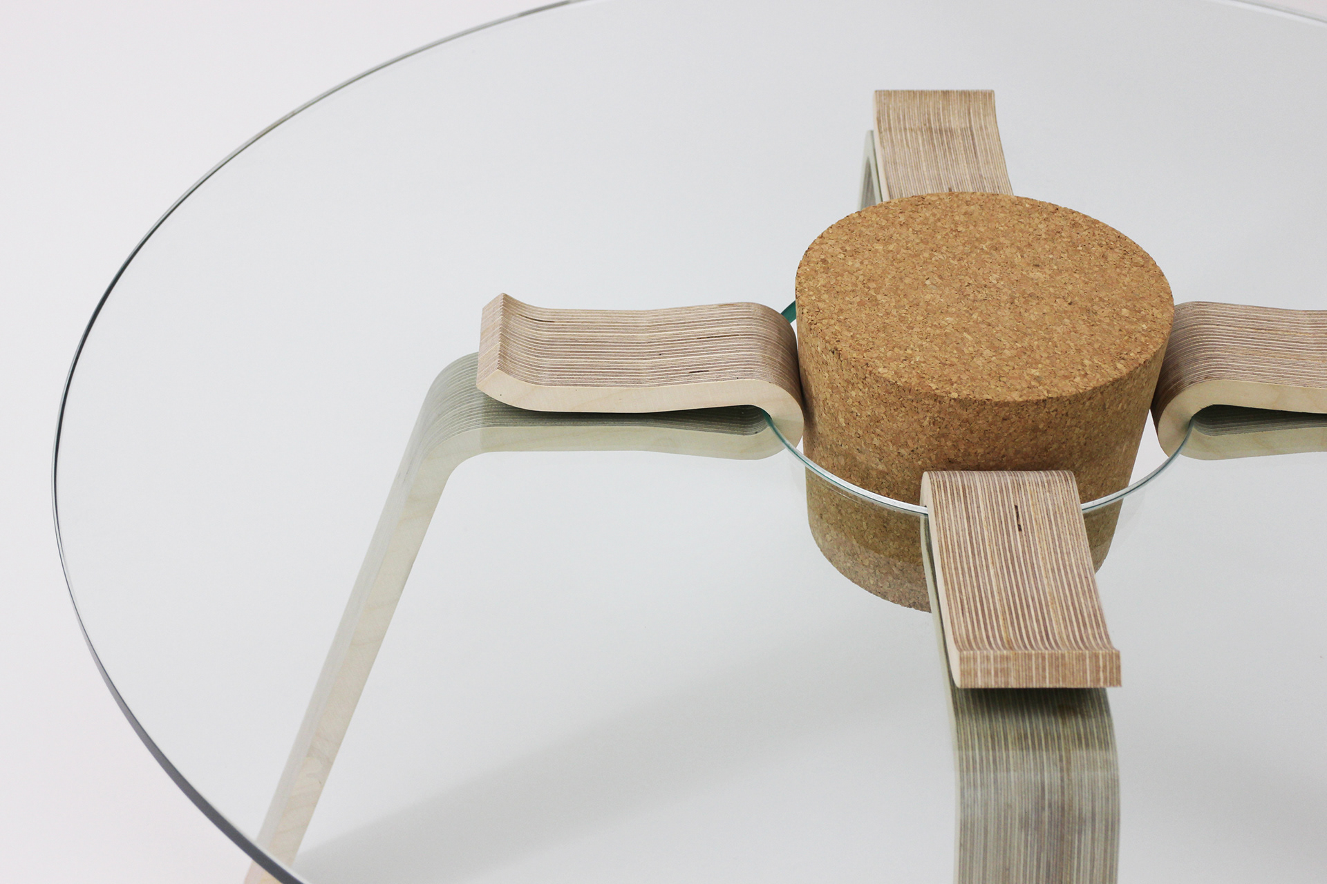 Modern Glass Table Is Held Together With A Cork Stopper Designs
