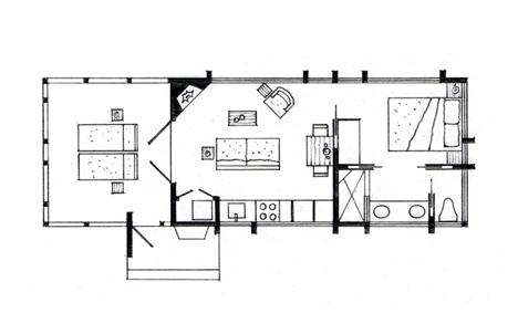 floor plan canoe bay escape cabin