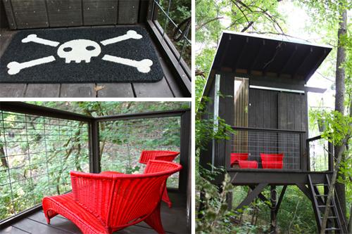 fun pirate treehouse