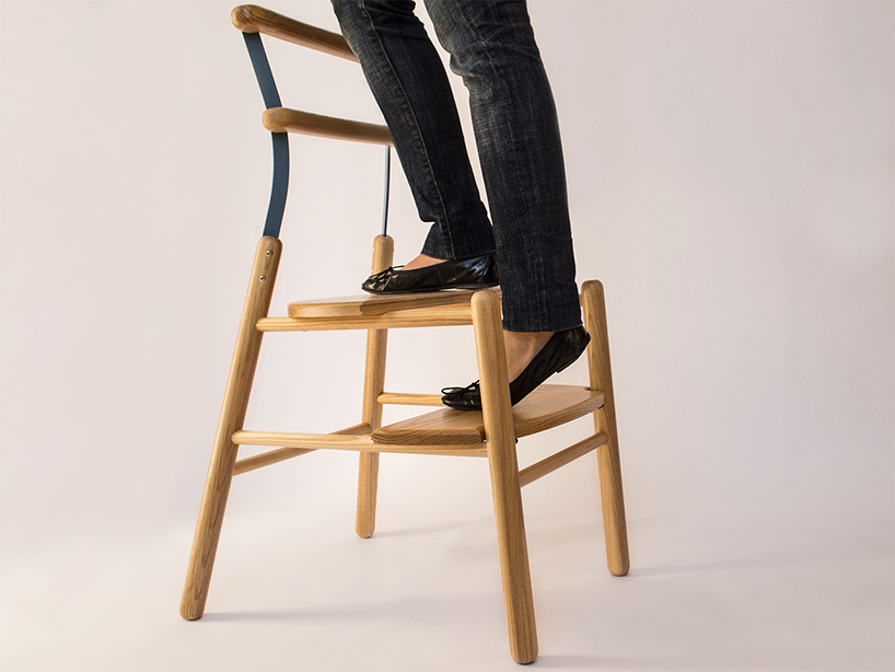 Dining Chair Transforms Into Step Stool