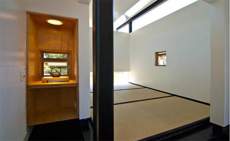 interior meditation hut