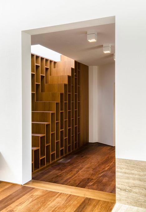 Wall Length Bookcase Stair Combo Designs Ideas On Dornob