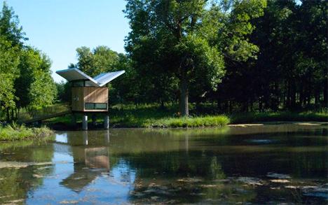 lake meditation hut tea room victor