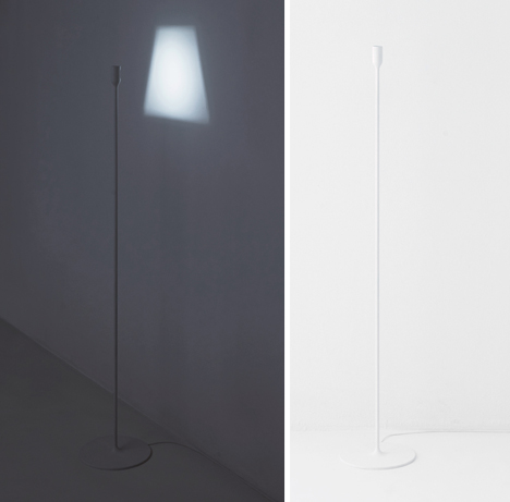 lamp projects its own shade in light