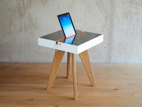 Table Uses Natural + Artificial Light to Charge Your Gadgets