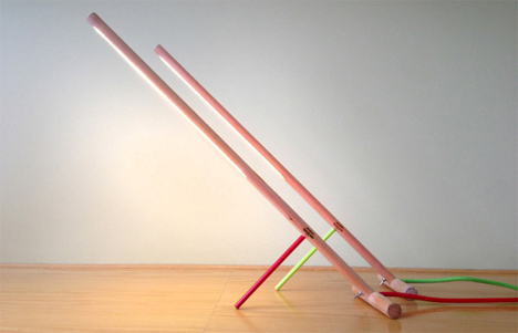 minimalist peg lamp