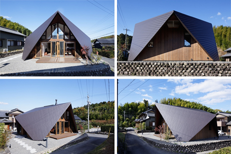 Origami-Style Roof Embraces This Modern Japanese Home