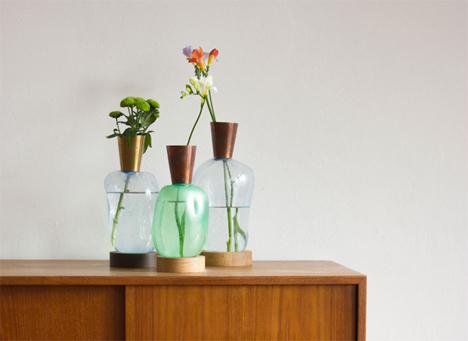 plastic blow vases