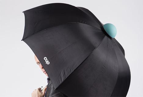redesigned umbrella water catching cup