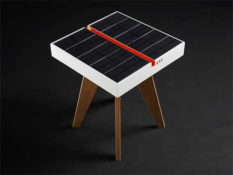 solar panels charging table