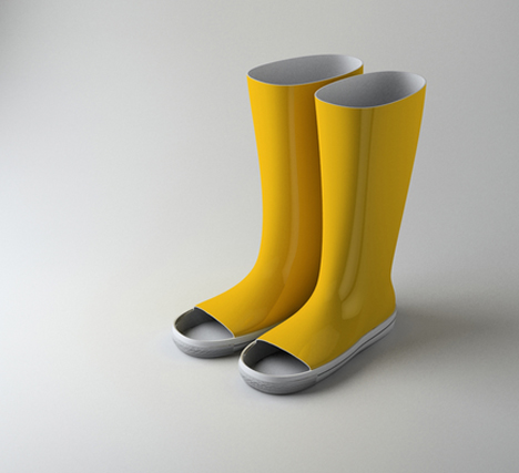 toeless galoshes