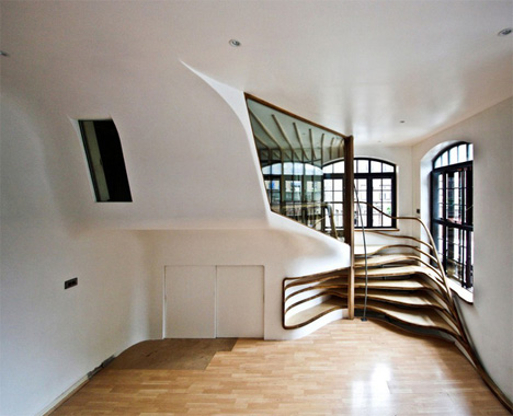 Perfect Winding Staircase Resembles An Apartment Dwelling Tree