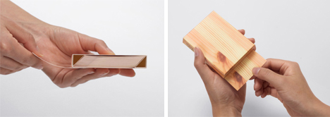 wood block memo pad