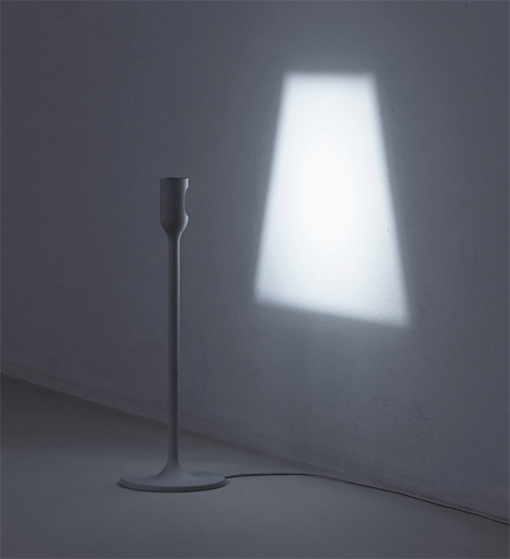 yoy studios lamp that projects a light shade