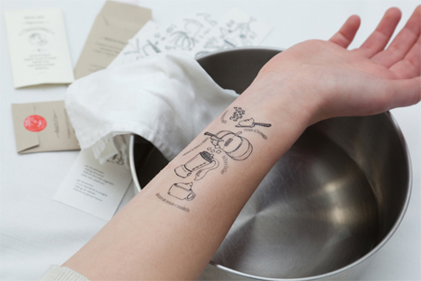 Temporary Body Art is a Map to Cooking a Masterpiece Meal