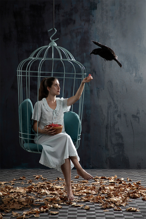 Elegant Swinging Chair is a Big, Inviting Birdcage