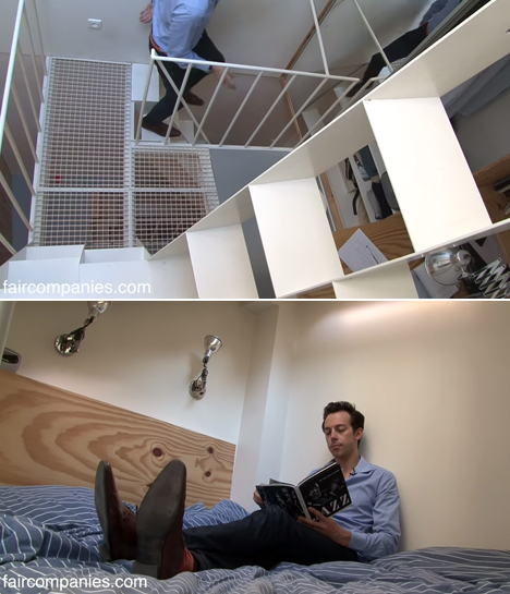 Paris Stairwell Apartment Packs 4 Floors into 269 Sq Ft
