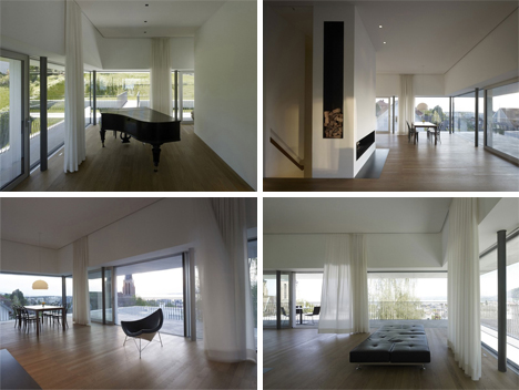 austrian hillside home interior