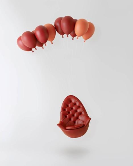 balloon chair le ballon rouge