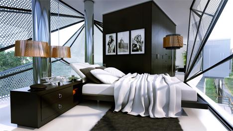 bedroom aviator's villa