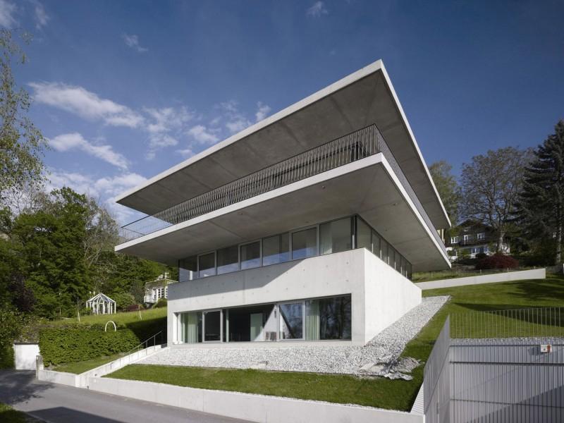 concrete and glass austrian home