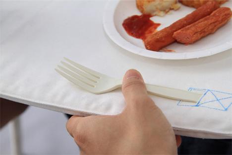 cutlery pocket napkin table