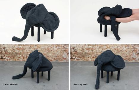 elephant petstool footstool