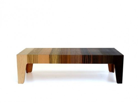eli chissick recycled wood gradient table