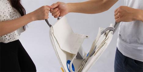 folding up napkin table