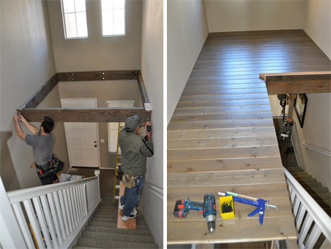 Abracadabra Double Height Foyer Becomes Diy Loft Area