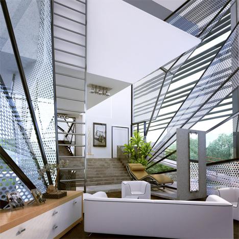 interior aviator's villa