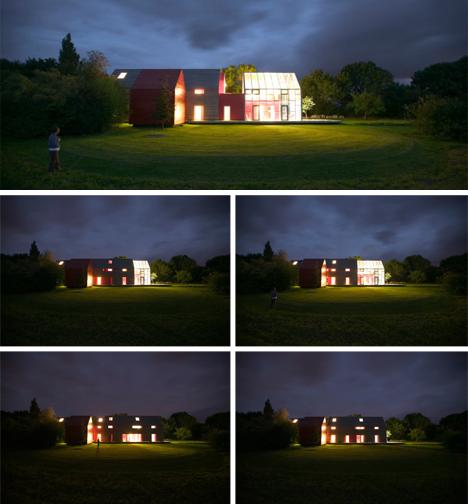 nighttime sliding house