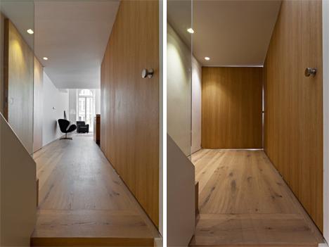 pivoting wooden door