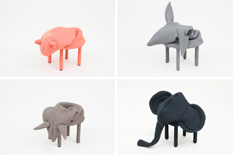 Fantastic Playful Animal Footstools Keep Your Feet Warm Friendly Pabps2019 Chair Design Images Pabps2019Com