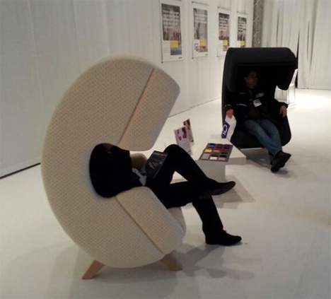 privacy phone chairs