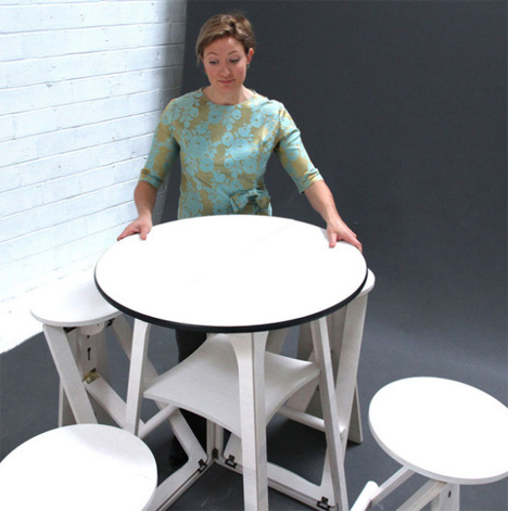 Table for One? Tiny Bar Set Folds to Seat One to Four