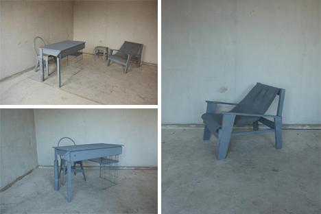 trash transformed into furniture
