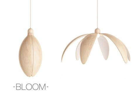 Bloom: Lamp Opens Like a Flower to Adjust Brightness